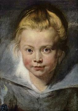 Pietro Paolo Rubens, Ritratto della figlia Clara Serena, 1615-1616, olio su tela applicata su tavola, 33x26.3 cm, Vienna, Palazzo Liechtenstein - The Princely Collections