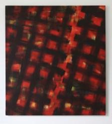 Mario Nigro, Senza titolo, 1956, tempera murale su tela, 148x135 cm Courtesy A arte Invernizzi, Milano Foto Bruno Bani, Milano