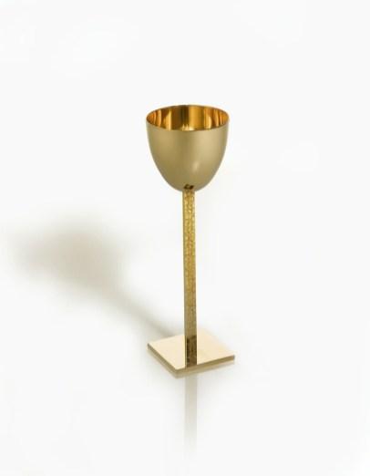 Alessandro Mendini, Calice, altezza totale 26.5 cm; diametro coppa 8.5 cm; base 7x7 cm