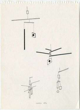 Bruno Munari, Progetto per Macchina inutile, 1946 Courtesy Corraini Arte Contemporanea