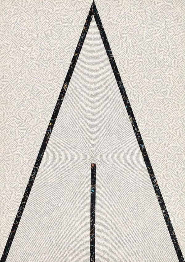 Jiří Kolář, Senza titolo, 1982, collage abstrait, 100x71 cm