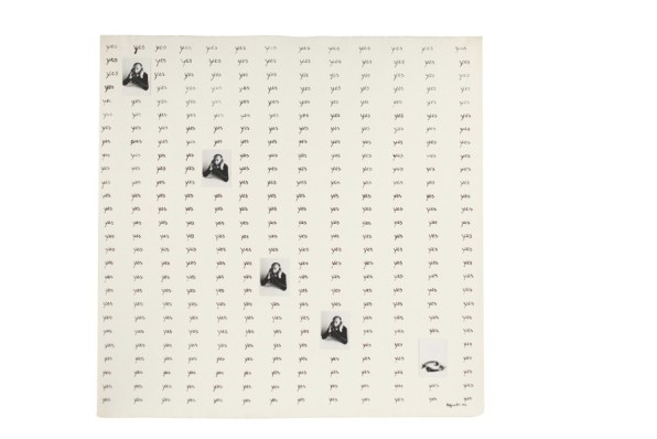 Vincenzo Agnetti, Autotelefonata, 1974, tecnica mista su carta, 56.5x56.5 cm Courtesy Osart Gallery, Milano Foto di Bruno Bani