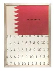 Vincenzo Agnetti, Discorso n°2 (Sussurrato), 1974, foto stampata a colori e scrittura serigrafata incollata su alluminio, 100x138 cm Courtesy Osart Gallery, Milano Foto di Bruno Bani
