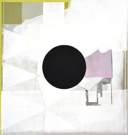 Luca Coser, Censura, 2017, acrilico-su-lino-grezzo-cm-190x180. Derwatt Studio - Trento. Foto: Ulrich Egger