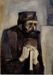 Trento Longaretti, Vecchio ebreo, 1962, olio su tela, 70x50 cm