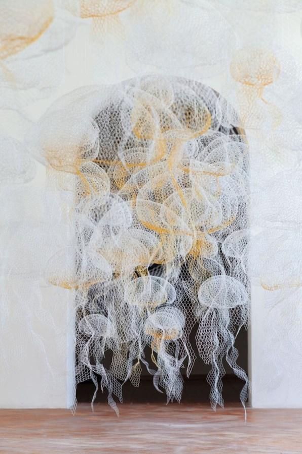 Benedetta Mori, Ubaldini, Landscape#1, 2017, rete metallica verniciata, installazione Courtesy Benedetta Mori Ubaldini