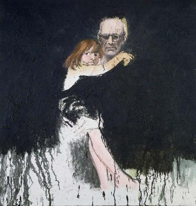 Carlo Mattioli, Autoritratto con Anna, 1982, olio su tela, 80x70 cm, Collezione privata Crediti Archivio Mattioli