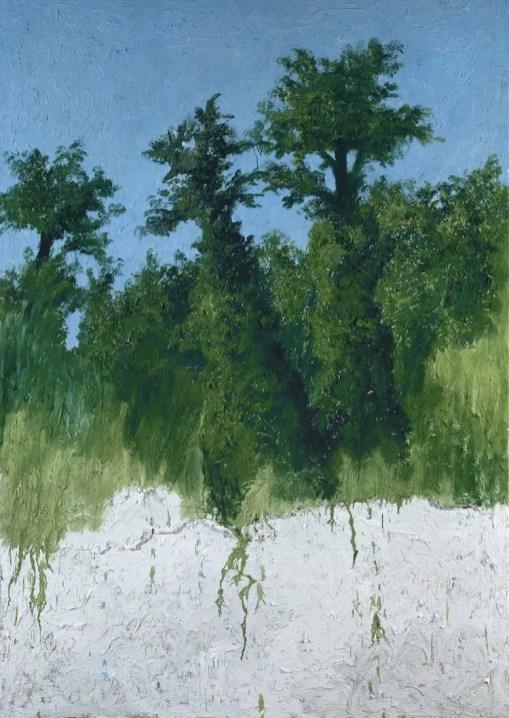 Carlo Mattioli, Nella Versiliana, 1982, olio su tela, 168x120 cm, Collezione d'arte Fondazione Cariparma Crediti Archivio Mattioli