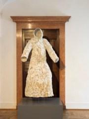 Jan Fabre, Monk (Umbraculum), 2001, human bones, iron wire, 169.8x92.3x66.3 cm, Ali Raif Dinçkök Collection, Istanbul Photographer Pat Verbruggen Copyright Angelos bvba
