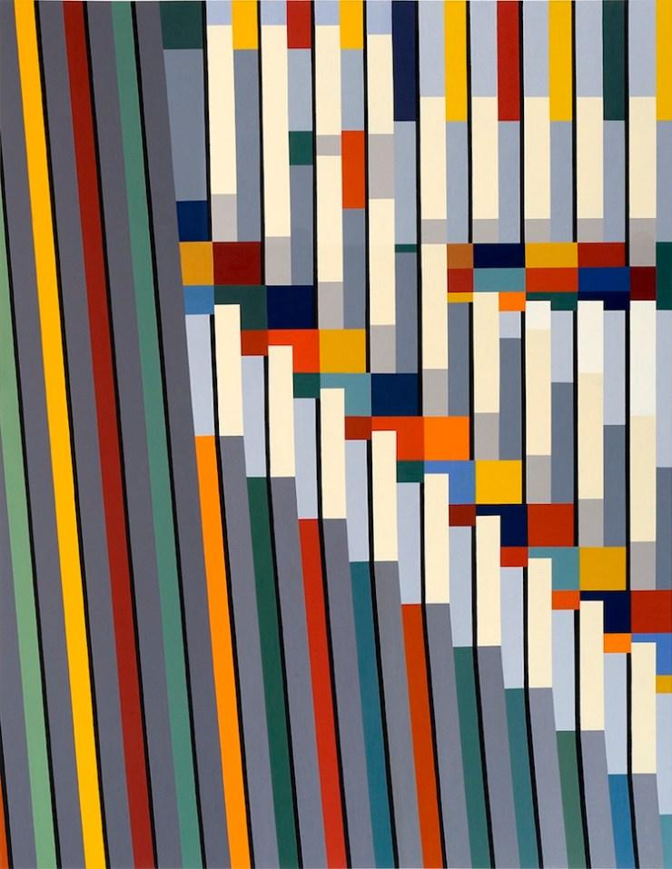 Marco Petrus, M22, 2016, olio su tela, 180x140 cm