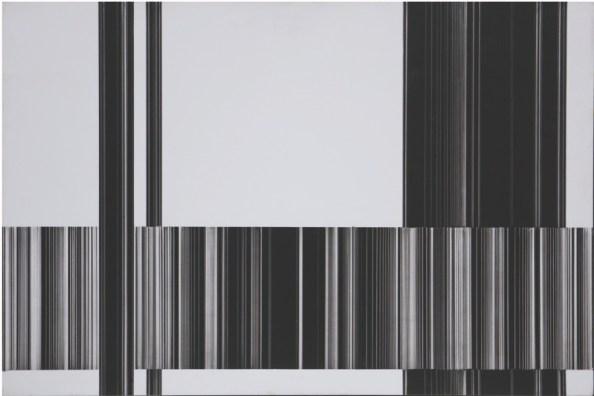 Luc Peire, Graphie 1129, 1973, pittura e formica, 30x45 cm Courtesy Lorenzelli Arte, Milano