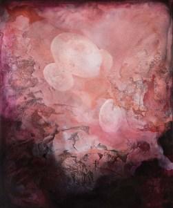 Federica Rossi, dalla serie The living cell, 2017, acrilico su tela, cm. 120x100