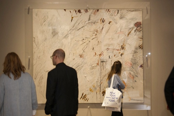 New York New York. Arte italiana. La riscoperta dell'America, veduta della mostra (Cy Twombly), Gallerie d'Italia, Milano Foto di Maurizio Tosto