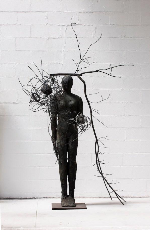 Mimmo Paladino, Senza titolo, 2016, bronzo, 277x170x110 cm