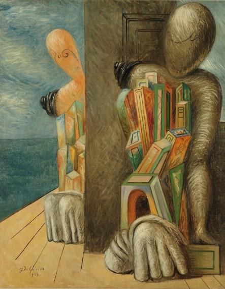 Giorgio De Chirico, Manichini in riva al mare, 1926, olio su tela, 81x65.5 cm, Collezioni Intesa Sanpaolo © Archivio Attività Culturali, Intesa Sanpaolo Foto Paolo Vandrasch