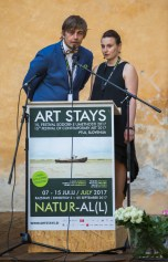 opening of the festival art stays 2017 with the directors jernej forbici and marika vicari. archivio art stays 2017