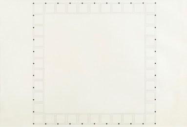 Alighiero Boetti, Autodisporsi, 1974, China Ink on paper, 70x100 cm Photo credit Giorgio Benni Courtesy Galleria Mille eventi, Milano
