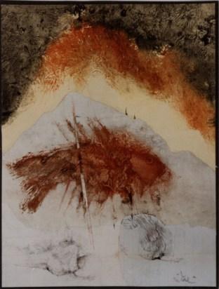 Giancarlo Vitali, Ombre fossili, 1991, monotipo, 32.5x24.5 cm