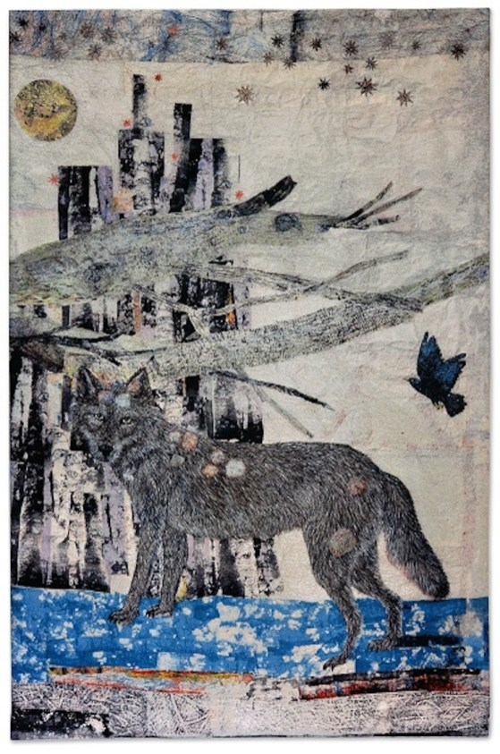 Kiki Smith, Cathedral, 2012, jacquard tapestry. 289.6x190.5 cm Photo credit Ela Bialkowska - Okno Studio