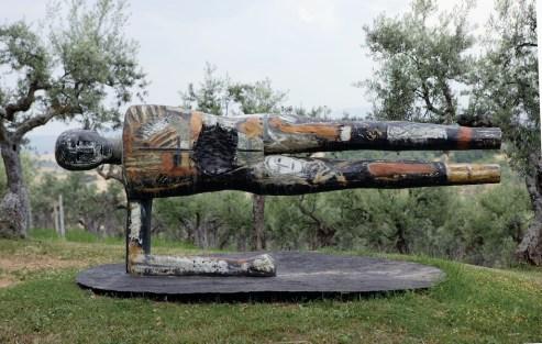 Mimmo Paladino, Senza titolo, 1990, olio e zinco su tela e legno, 210.5x160.5 cm Collezione privata, Milano