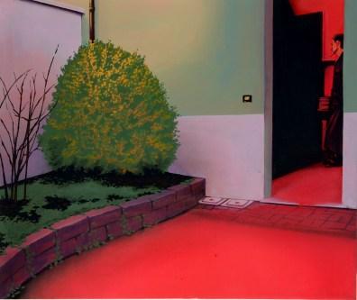 Laura Giardino, FLOOD07, 2017, tecnica mista su tela, 60x50 cm