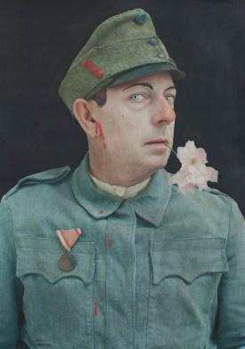 Paolo Ventura, Ex voto #2, 2017, fotografia acrilico e matita colorata, 150×100 cm