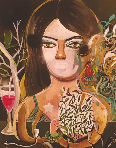 Silvia Argiolas, Persona, 2017, acrilico su tela, 40x40 cm