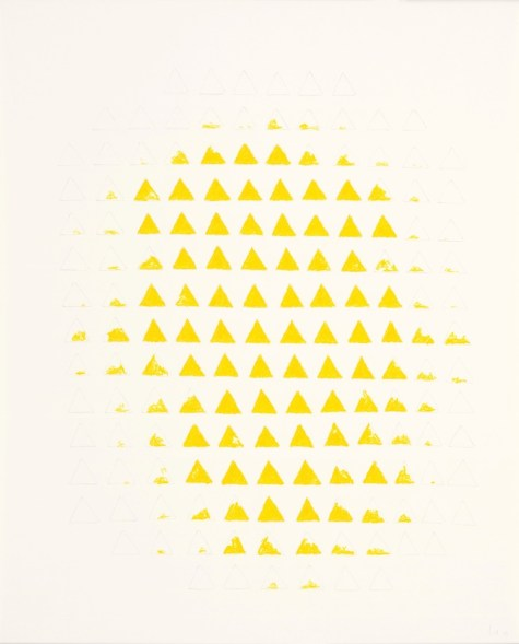 Wolfgang Laib, Senza titolo, 2003, pastello a olio e matita su carta Collezione privata © 2017, ProLitteris, Zürich