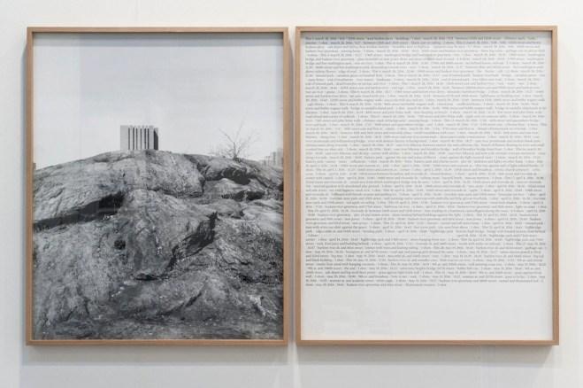 """Antonio Rovaldi, Notes for a book """"Dear Michael"""", 2017, stampa fotografica e testo, 93x150 cm, ed. 3 Courtesy Galleria Michela Rizzo, Venezia"""