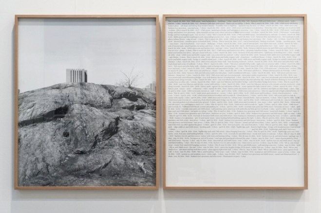 "Antonio Rovaldi, Notes for a book ""Dear Michael"", 2017, stampa fotografica e testo, 93x150 cm, ed. 3 Courtesy Galleria Michela Rizzo, Venezia"