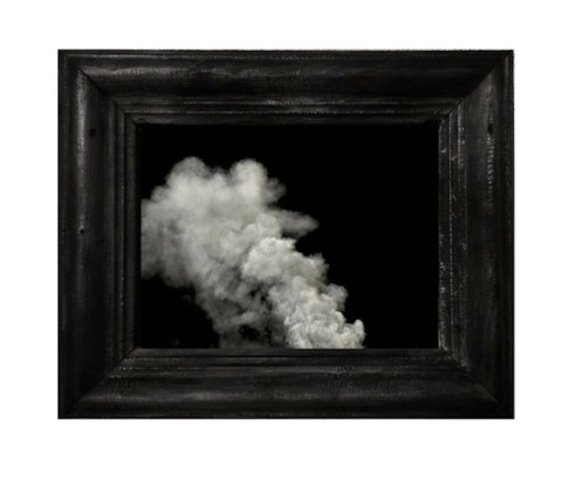 Julia Bornefeld, Bianco, 2017, stampa digitale su carta fotografica e cornice in legno combusta, foto edizione 1/1 Courtesy Antonella Cattani Contemporary Art, Bolzano