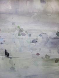 Federica Giulianini, Eros Opuntia, 2016, tecnica mista su tela, cm. 200x150