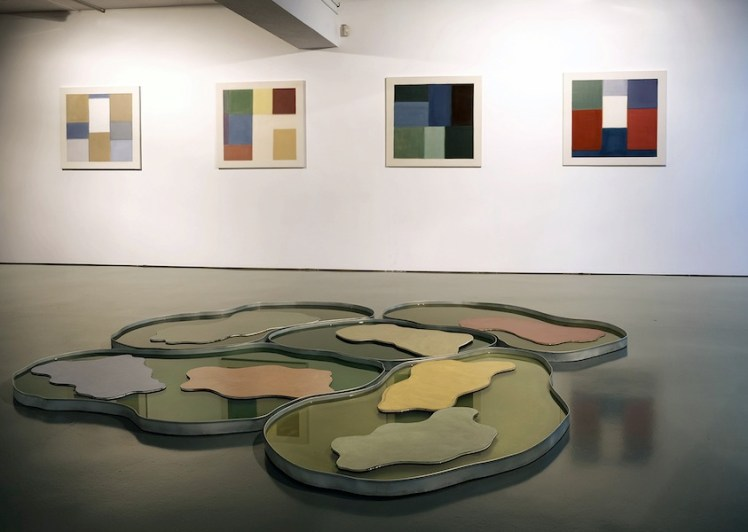 Nataly Maier. Una festa di colore, veduta della mostra, 56 Via Vico Necchi, Figino Serenza (CO)