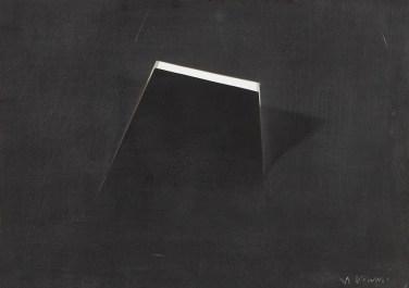 Arturo Vermi, Piattaforma,1971,tecnica mista su carta, 25x35 cm Courtesy Fondazione Berardelli, Brescia
