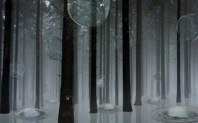 Aqua Aura, Elusive Landscape, 2015, stampa digitale su carta cotone su alluminio e cornice floccata, 86x134 cm. Courtesy: l'artista