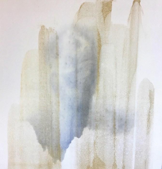 Matteo Montani, Unfolding, 2017, olio su carta abrasiva su tela, 50x50 cm