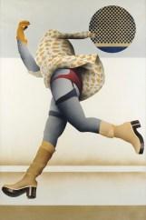 Giuseppe Guareschi, Donna che corre, 1975, tecnica mista su tavola, 105x100 cm Foto Fabrizio Stipari / CreVal