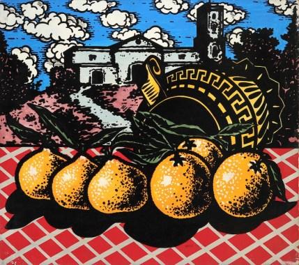 Ercole Pignatelli, Doppioni, 1966, olio su tela, 80x90 cm Foto Fabrizio Stipari / CreVal