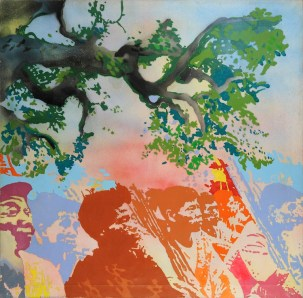 Giacomo Spadari, Vietkong, 1970, acrilico su tela, 120x120 cm Foto Fabrizio Stipari / CreVal