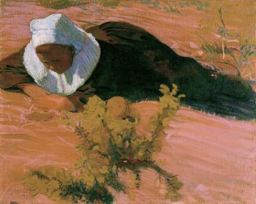 Cuno Amiet, Ragazzo bretone, 1893, olio su tela, 65 x 80 cm, Kunsthaus Zürich, Vereinigung Zürcher Kunstfreunde © M.+D. Thalmann, Herzogenbuchsee