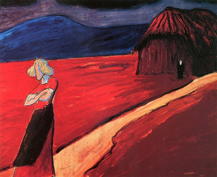 Marianne Werefkin, Atmosfera tragica, 1910, tempera su carta incollata su cartone, 46.8x58.2 cm, Ascona (Svizzera), Comune di Ascona