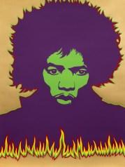 Poster di Jimi Hendrix, 1967, ideato da Larry Smart © Victoria and Albert Museum, London