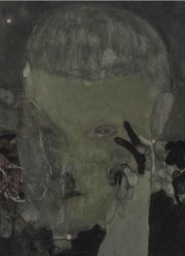 Guglielmo Castelli, It gets me there nonetheless I'm a heartless man at worst, 2017, pastelli a olio su carta, 100 x 70 cm, Francesca Antonini Arte Contemporanea