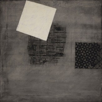 Carlo Ciussi, XXII, 1965, olio e tecnica mista su tela, 100x110 cm © A arte Invernizzi, Milano Foto Bruno Bani, Milano