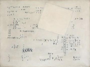 Carlo Ciussi, Senza titolo, 1965, olio e tecnica mista su tela, 60x80 cm © A arte Invernizzi, Milano Foto Bruno Bani, Milano