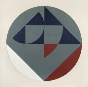 Carlo Ciussi, XVI, 1967-68, olio e tecnica mista su tela e formica, 125x125 cm © A arte Invernizzi, Milano Foto Bruno Bani, Milano