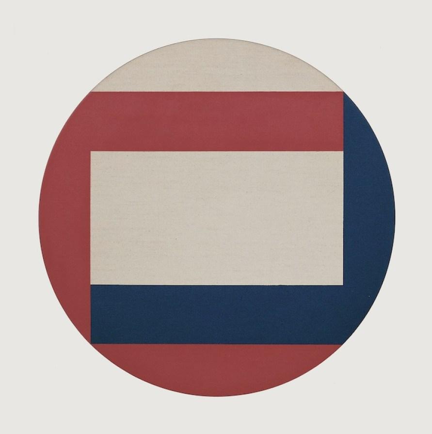 Carlo Ciussi, Senza titolo, 1974, olio e tecnica mista su tela e formica, 100x100 cm © A arte Invernizzi, Milano Foto Bruno Bani, Milano