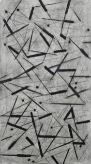 Carlo Ciussi, Senza titolo, 1992, olio su tela, 161.5x91.5 cm © A arte Invernizzi, Milano Foto Bruno Bani, Milano