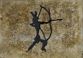 Pino Pascali, Graffito, 1964, tecnica mista su acetato e cartoncino, 25.5x37.5 cm