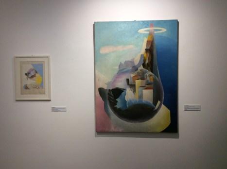 """Veduta dell'allestimento della mostra """"L'elica e la luce. Le futuriste 1912-1944"""""""
